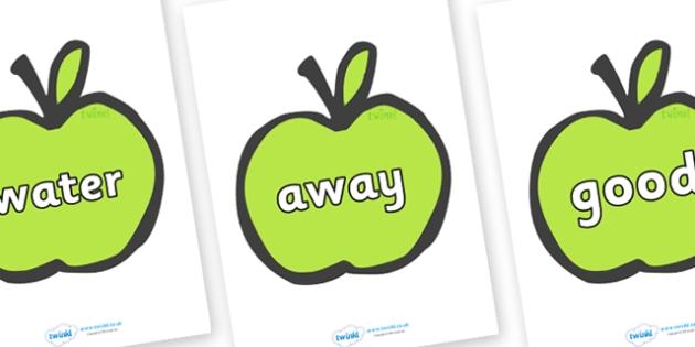 Next 200 Common Words on Apples - Next 200 Common Words on  - DfES Letters and Sounds, Letters and Sounds, Letters and sounds words, Common words, 200 common words