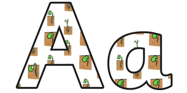Growth Lowercase Display Lettering - growth, growth display lettering, growth display letters, growth themed display alphabet, growth themed a-z, ks2 topic