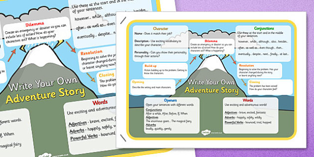 Write Your Own Adventure Story Display Poster - adventure story poster, adventure story, writing an adventure story, write your own adventure story, story