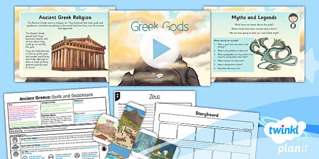 PlanIt - History KS2 - Ancient Greece Lesson 5: Gods and Goddesses Lesson Pack