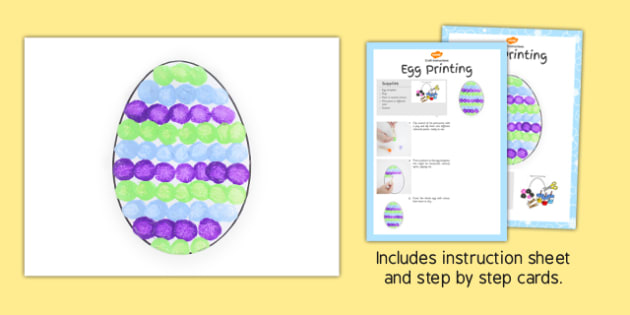 Egg Printing Craft Instructions - craft, printing, instructions