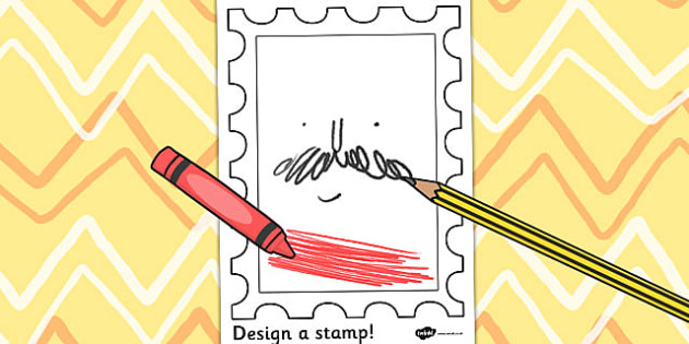 Design a Stamp Activity - activity, stamp, design, post, draw