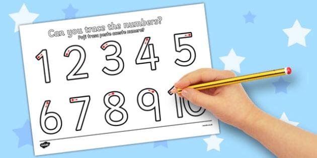 Number Formation 1-10 Worksheet Romanian Translation - romanian