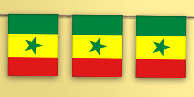 Senegal Flag Bunting - senegal flag, senegal, bunting, display bunting, display