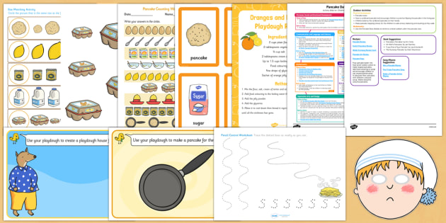 Childminder Pancake Day Activity Web and Resource Pack - Shrove Tuesday, pancake day, childminder