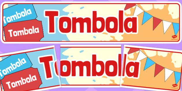 Tombola Banner - tombola, banner, display, raffle, tickets, fair