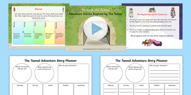 Adventure Story Pack Inspired by The Tunnel to Support Teaching on The Tunnel by Anthony Browne  - stories