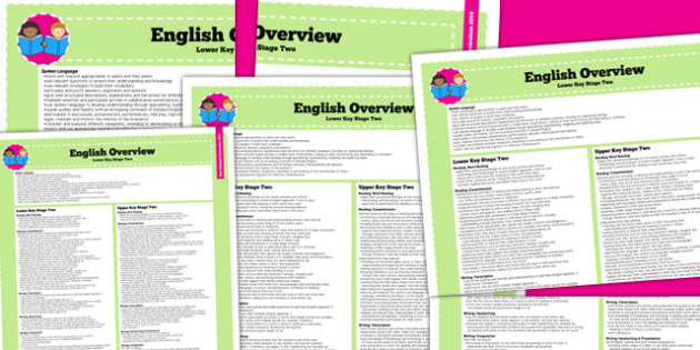 2014 Curriculum KS2 English Overview - literacy, lesson plan