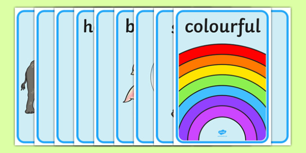 Adjectives Display Posters - adjectives, adjective, do words, words, type, word, display poster, sign, English, grammar