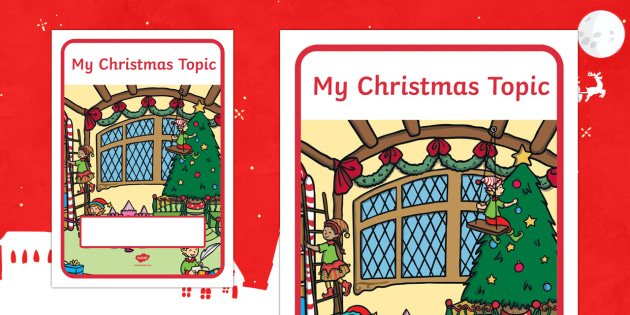 My Christmas Topic Editable Book Cover