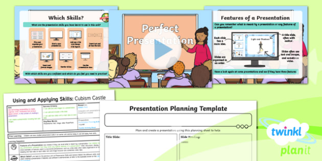 PlanIt - Computing Year 2 - Using and Applying Skills Lesson 3: Perfect Presentation Lesson Pack