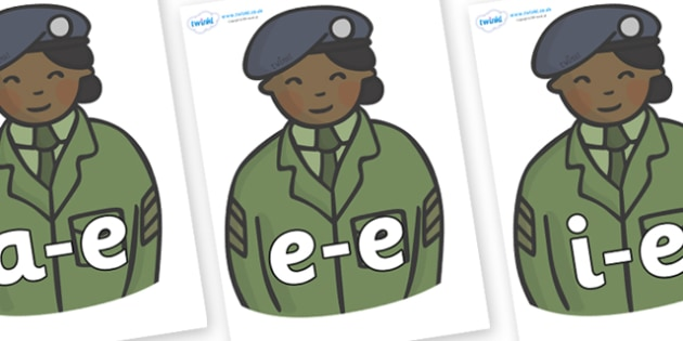 Modifying E Letters on Officers - Modifying E, letters, modify, Phase 5, Phase five, alternative spellings for phonemes, DfES letters and Sounds