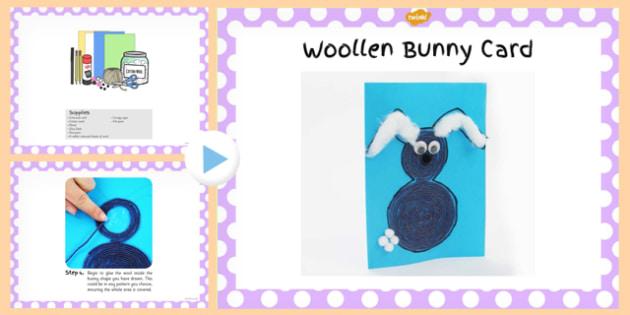 Woollen Bunny Card Craft PowerPoint - woollen, bunny, craft
