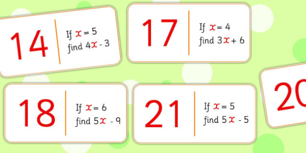 Equation Domino Loop Cards - dominoes, games, maths, numeracy