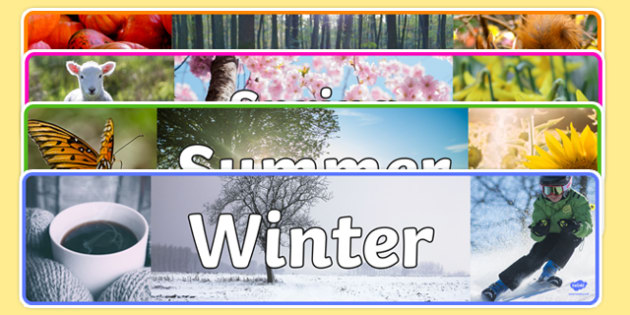 Four Seasons Photo Display Banner Pack - four seasons, photo, display banner, pack