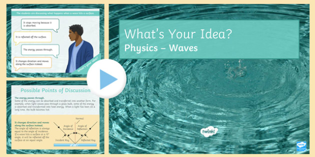 KS3 Waves What's Your Idea? PowerPoint