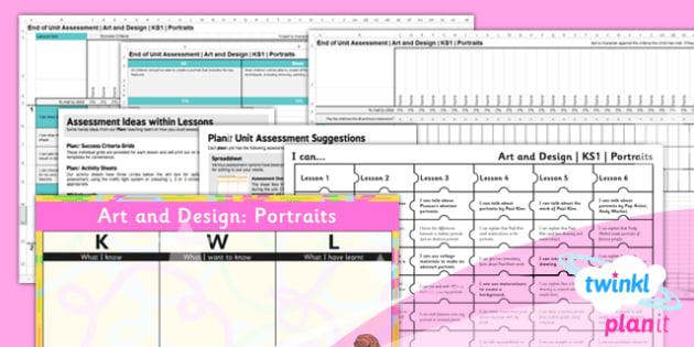 PlanIt - Art KS1 - Portraits Unit Assessment Pack - planit, art, ks1, portraits, unit, assessment, pack