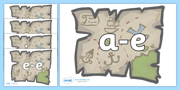 Modifying E Letters on Treasure Maps - Modifying E, letters, modify, Phase 5, Phase five, alternative spellings for phonemes, DfES letters and Sounds