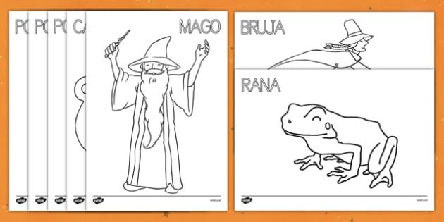 Fichas de colorear Magia
