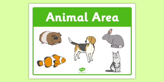 Animals Area Sign - animals area, area sign, sign, display sign, display, animals