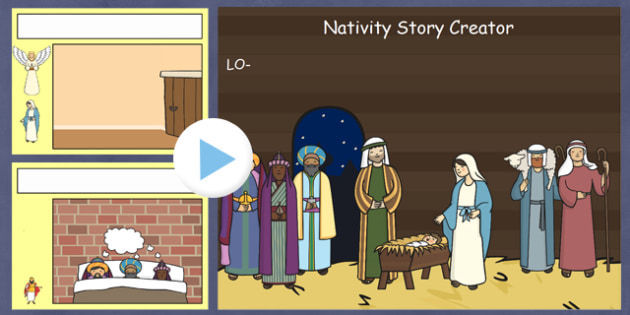 Nativity Story Creator IWB - nativity, christmas, story, xmas, create