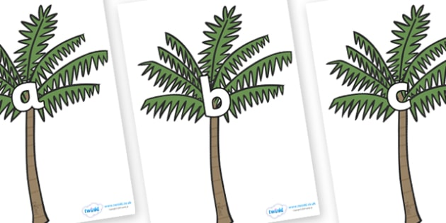 Phase 2 Phonemes on Palm Trees - Phonemes, phoneme, Phase 2, Phase two, Foundation, Literacy, Letters and Sounds, DfES, display