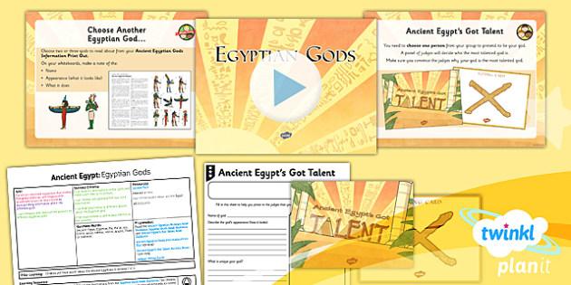 PlanIt - History LKS2 - Ancient Egypt Lesson 6: Egyptian Gods Lesson Pack