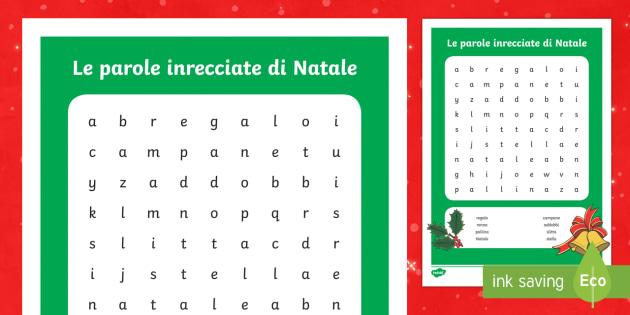 Le parole intrecciate di Natale - cercaparola, parole intrecciate, natale, buon natale, fesitvo, natalizio, parole, cerca, parole di n