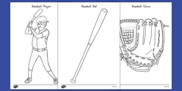 Baseball Coloring Pages - usa, baseball, mlb, major league baseball, coloring pages
