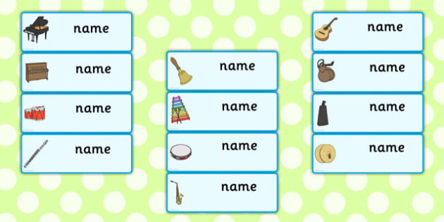 Editable Music Drawer, Peg, Name Labels - Editable Label Templates, Music, Resource Labels, Name Labels, Editable Labels, Drawer Labels, Coat Peg Labels, Peg Label, KS1 Labels, Foundation Labels, Foundation Stage Labels, Teaching Labels instrument, a