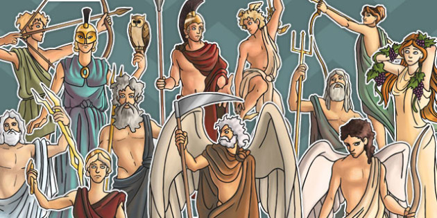 Roman Gods Large Display Cut Out Pack - roman gods, display, cut out