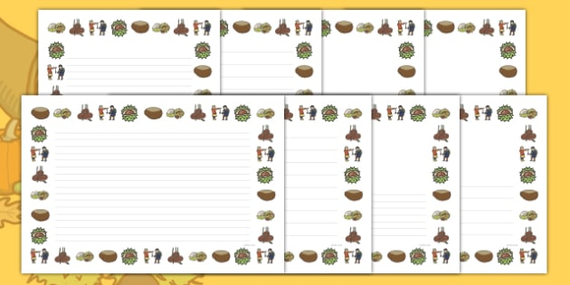 Autumn Conker Page Border Pack