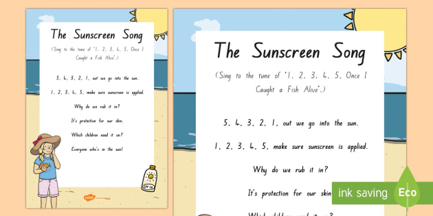 Sunscreen Song