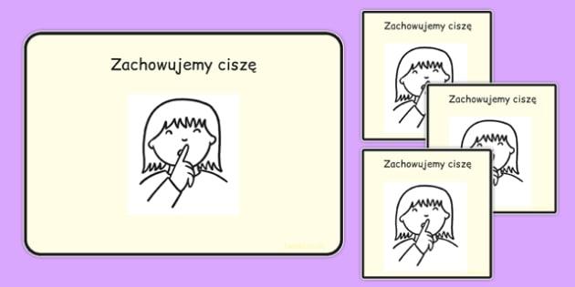 Zachowujemy ciszę po polsku - zachowanie, cisza