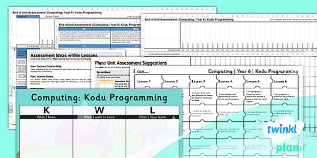 PlanIt - Computing Year 6 - Kodu Programming Unit Assessment Pack - planit, computing, year 6, assessment, pack