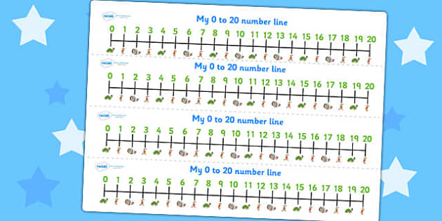 The Tortoise and The Hare Number Lines 0 20 - counting aid, maths