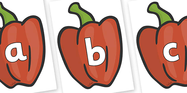 Phoneme Set on Peppers (Plain) - Phoneme set, phonemes, phoneme, Letters and Sounds, DfES, display, Phase 1, Phase 2, Phase 3, Phase 5, Foundation, Literacy