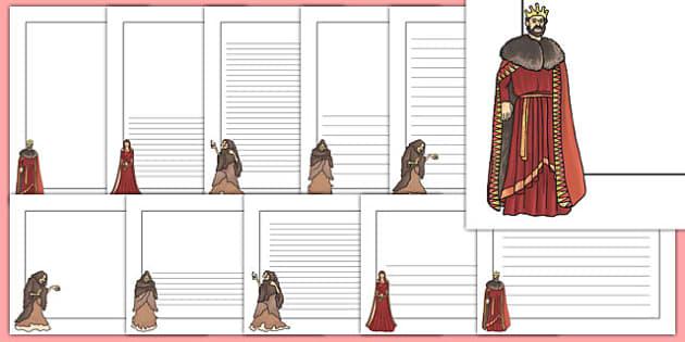 Macbeth Page Borders - shakespeare, KS2 stories, writing aid