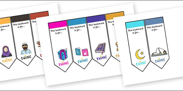 Eid Editable Bookmarks - Eid, eid themed, bookmarks, editable bookmarks, eid themed bookmarks, eid themed editable bookmarks