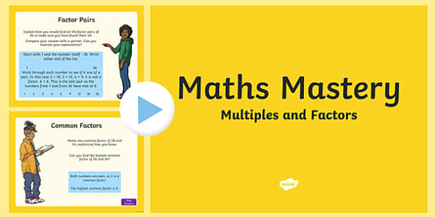 Year 5, Multiplication and Division, Multiples and Factors Maths Mastery Activities PowerPoint