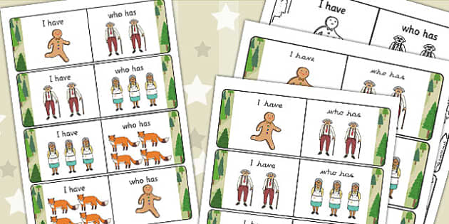 The Gingerbread Man I Have Who Has Counting Activity - counting