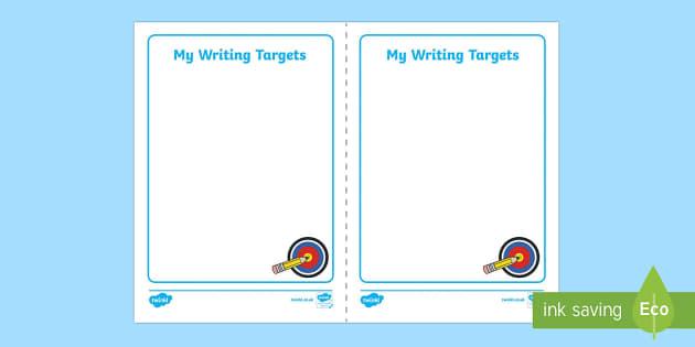 Writing Target Cards - writing targets, cards, write, writing, targets