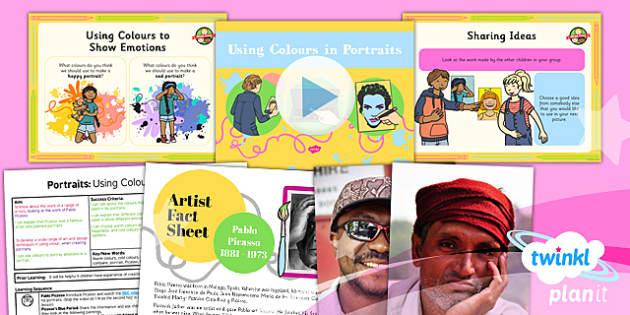 PlanIt - Art KS1 - Portraits Lesson 2: Using Colours in Portraits Lesson Pack