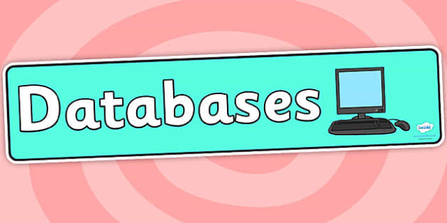 Databases Display Banner - databases, display banner, banner for display, display, banner, header, header for display, display header, class display, ICT
