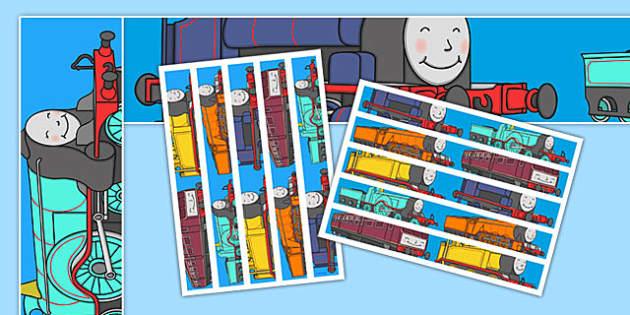 Talking Steam Train Themed Display Borders - thomas the tank engine, talking steam train, display borders