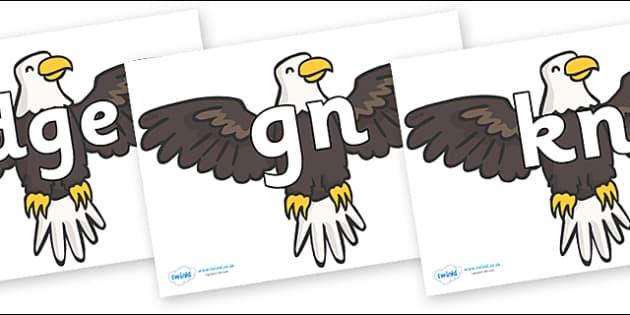Silent Letters on Eagles - Silent Letters, silent letter, letter blend, consonant, consonants, digraph, trigraph, A-Z letters, literacy, alphabet, letters, alternative sounds