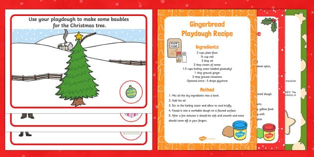 EYFS Christmas Postman Playdough Recipe and Mat Pack - The Jolly Christmas Postman, Allan and Janet Ahlberg, playdough, playdough mats, Christmas playdough