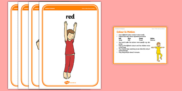 Foundation PE (Reception) Colour Corners Warm-Up Activity Card - physical activity, foundation stage, physical development, games, dance, gymnastics