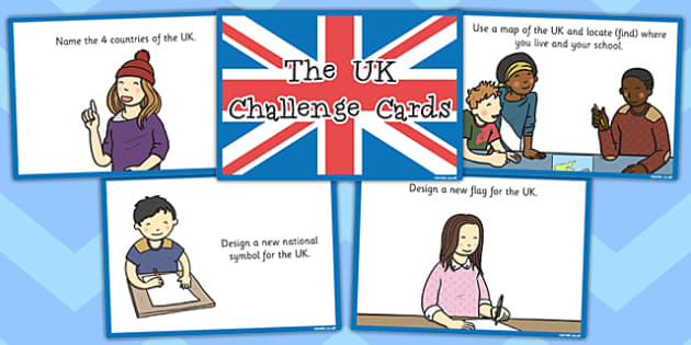 Our Country UK Challenge Cards - challenge, cards, country, uk