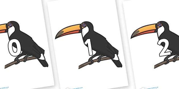 Numbers 0-100 on Toucan - 0-100, foundation stage numeracy, Number recognition, Number flashcards, counting, number frieze, Display numbers, number posters